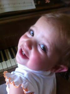Leila on the keys