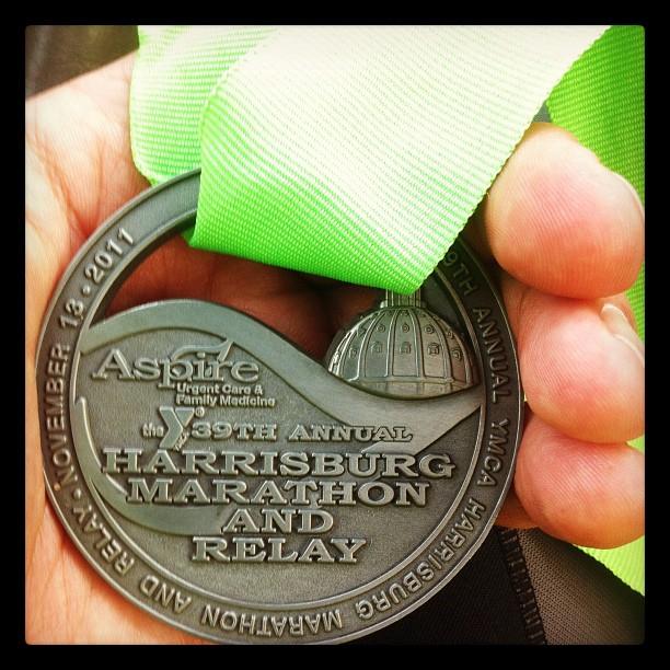 Harrisburg Marathon Medal