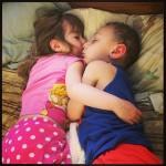 sibling cuddles