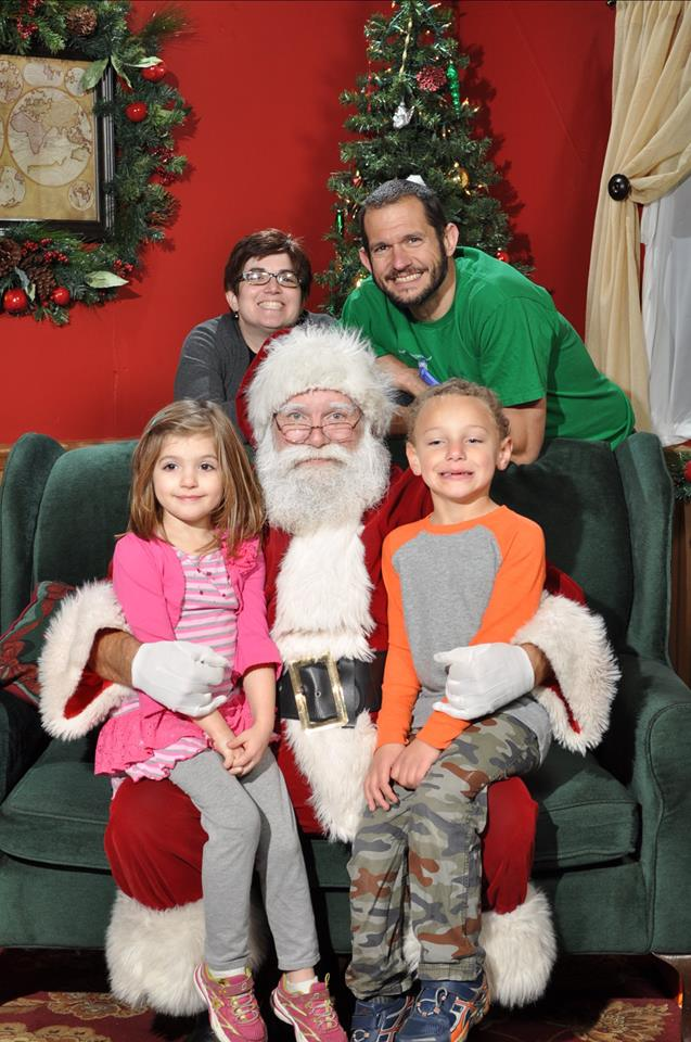 The Family with Santa